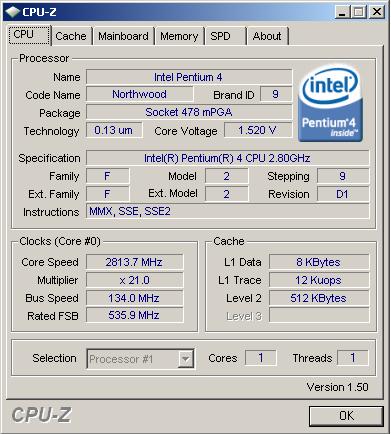 Pentium 4 2.80 GHz/512/533